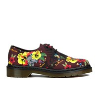 Dr. Martens Women's Lester Flat Shoes Cherry Red Hawaiian Red Multi
