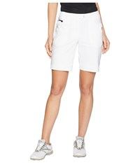 Jamie Sadock Airwear Lightweight Shorts With Front Zip And Button Closure Sugar White