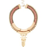 River Island Womens Gold Tone Statement Necklace