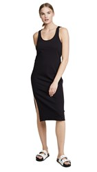 Nation Ltd. Ltd Valerie Side Slit Tank Dress Jet Black