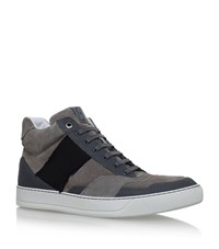 Lanvin Ribbon High Top Sneakers Male Grey