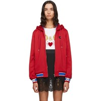 Dolce And Gabbana Red Track Hoodie