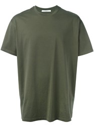 Givenchy Letter T Shirt Green