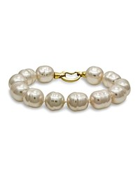 Majorica Simulated Baroque Pearl Bracelet White