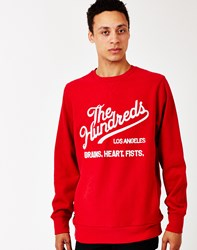 The Hundreds Tradition Crew Neck Sweatshirt Red