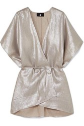 Su Paris Kana Metallic Linen Wrap One Size