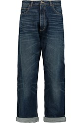 Golden Goose Kim High Rise Straight Leg Jeans Blue