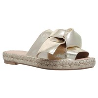 Carvela Kurry Bow Slider Sandals Gold