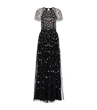 Needle And Thread Starburst Embellished Tulle Gown Female Black
