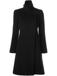 Armani Collezioni High Collar Coat Black