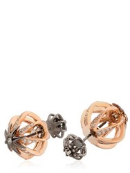 Colette Jewelry Galaxia Star Cage Reversible Earrings