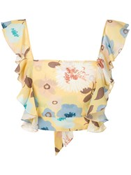 Clube Bossa Floral Lubba Top Yellow