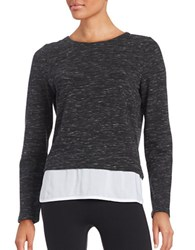 Marc New York Textured Mock Layer Top Black