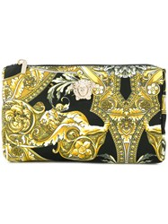 Versace Baroque Print Make Up Bag Nylon Black