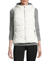 Marc New York Hooded Printed Lining Puffer Vest Pink