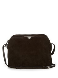 The Row Multi Pouch Suede Cross Body Bag Black