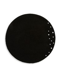 Collection 18 Beaded Wool Beret Black