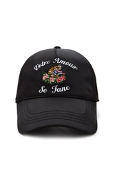 Forever 21 Votre Amour Embroidered Cap Black