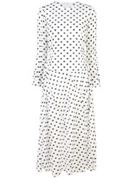 Julien David Longsleeved Spot Print Dress White