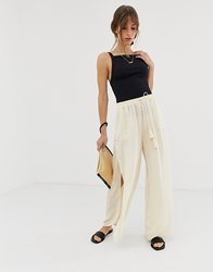 Free People She's A Dime Trouser Cream