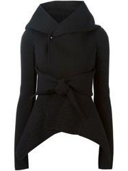 Rick Owens Lilies Oversized Collar Fitted Jacket Black