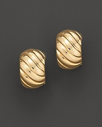 Roberto Coin 18 Kt. Yellow Gold Ribbed Earrings No Color
