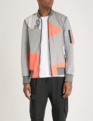 Christopher Raeburn Remaide Kite Shell And Jersey Bomber Jacket Neon Grey