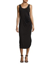Lord And Taylor Petite Ruched Scoopback Dress