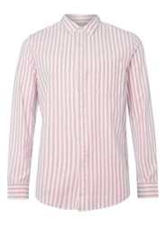 Topman Red And White Stripe Button Down Casual Shirt