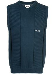 Palace Knitted Vest Blue