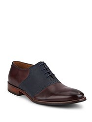 Cole Haan Williams Two Tone Leather Oxfords Cordovan