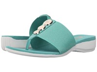 Anne Klein Katya Turquoise Fabric Women's Clog Shoes Blue