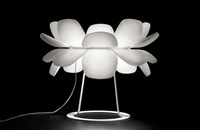 Estiluz Infiore Table Lamp M 5807 Halogen 27 Matte White