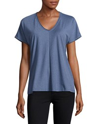 B Collection By Bobeau Short Sleeved V Neck Tee Navy
