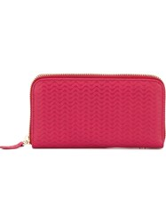 Zanellato Wavy Textured Wallet Pink And Purple