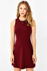 Cooperative Ponte Seamed A Line Dress Maroon