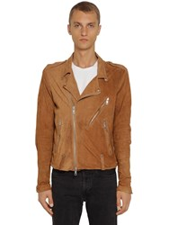 Giorgio Brato Chiodo Washed Leather Jacket Brown