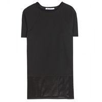 Alexander Wang Jersey And Open Knit Sweater Black