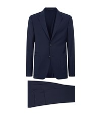 Zegna Techmerinotm Wash And Go Suit Navy