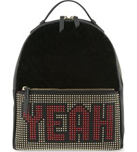 Les Petits Joueurs Mick Yeah Leather Backpack Black