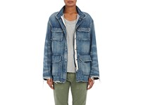 Nili Lotan Women's Lori Military Denim Jacket Light Blue