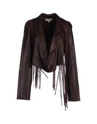 Jasmine Di Milo Leather Outerwear Deep Purple