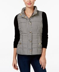 Charter Club Petite Houndstooth Quilted Vest Only At Macy's Vintage Cream Combo