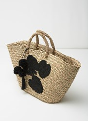 Mint Velvet Clara Beaded Basket Shopper Neutral