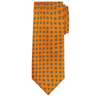 Peckham Rye Made In England Diamond Geo Tie Orange