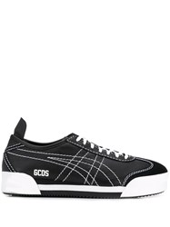 Gcds Mexico Contrast Stitching Sneakers Black