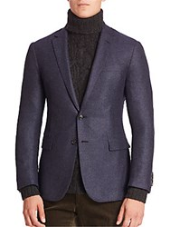 Ralph Lauren Purple Label Cashmere Silk Blend Blazer Navy Multi