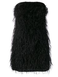 Federica Tosi Fringed Mini Dress Black