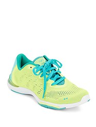 Ryka Achieve Mesh Sneakers Yellow Teal