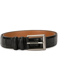 Magnanni Square Buckle Belt Black